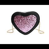 Романтична жіноча сумка у формі серця, фото 3
