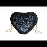 Романтична жіноча сумка у формі серця, фото 4