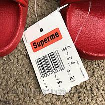 Supreme Slide Sandals Flip Flops Red реплика, фото 2