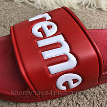 Supreme Slide Sandals Flip Flops Red реплика, фото 3