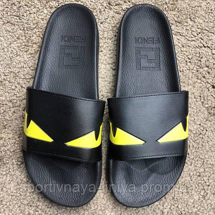 Fendi Slide Sandals Monster Eyes Yellow/Black реплика, фото 2