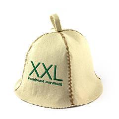 Шапка для сауни (біла), розмір XXL, штучне хутро, Saunapro