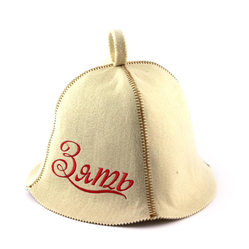 Шапка для сауны (белая), Зять, искусственный фетр, Saunapro