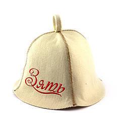 Шапка для сауни (біла), Зять, штучне хутро, Saunapro