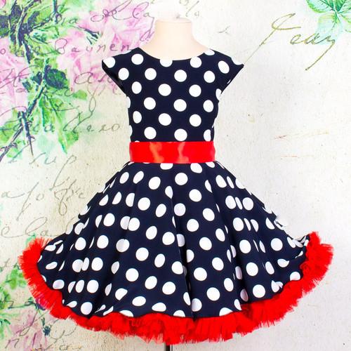 780defab58f Стиляга платье женское черное в белый горох прокат - интернет-магазин