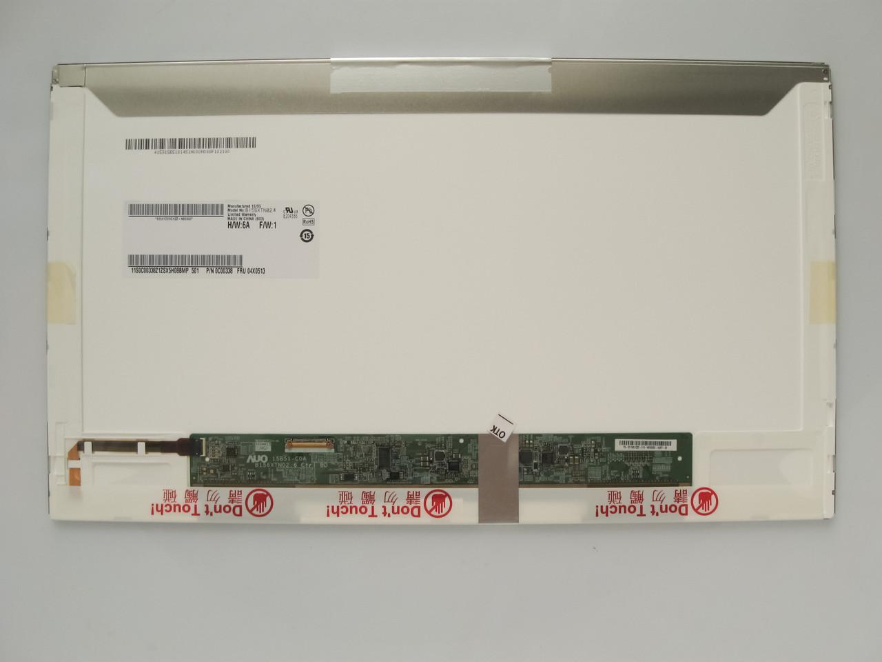 Матрица для ноутбука 15,6 led normal 1366x768 30pin lvds разъем слева внизу (со стороны платы) B156XTN02.6 нов уценка