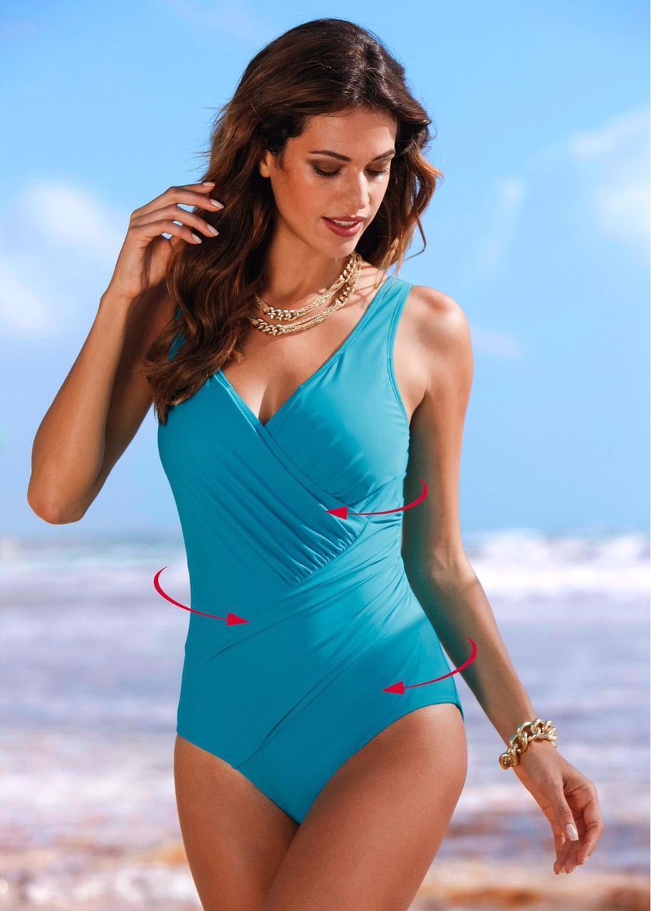 6cd36829bffa6 Слитный женский голубой купальник 44-46 р - Цена 400 грн. Купить ...