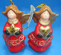 Елочное украшение Ангел 7.6см, 2 вида NY18-N43