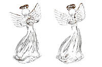 Елочное украшение Ангел 6.5см, 2 вида 172-174