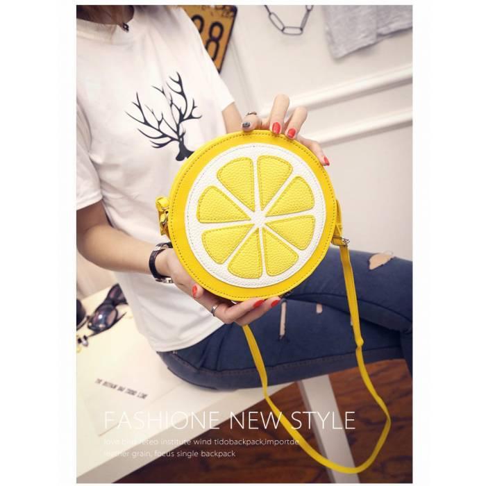 Яркая сумка в лимонном стиле - стильно и необычно
