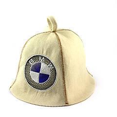 Шапка для сауни (біла), BMW, штучне хутро, Saunapro