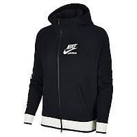 5e93aeeb Женская Толстовка Nike Nsw Hoodie Fz Flc Archive 893638-010 (Оригинал)