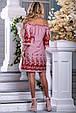 Красиве літнє плаття 2663 біло-червона смужка, фото 5