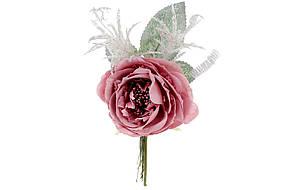 Декоративный искусственый цветок Роза 12см, цвет - розовый, в упаковке 36 шт. 832-128