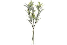 Декоративная ветка Омела из листьев в инее, в упаковке 24 шт. 758-304