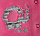 Кофточка велюровая Слоник розовая (Nicol, Польша), фото 2