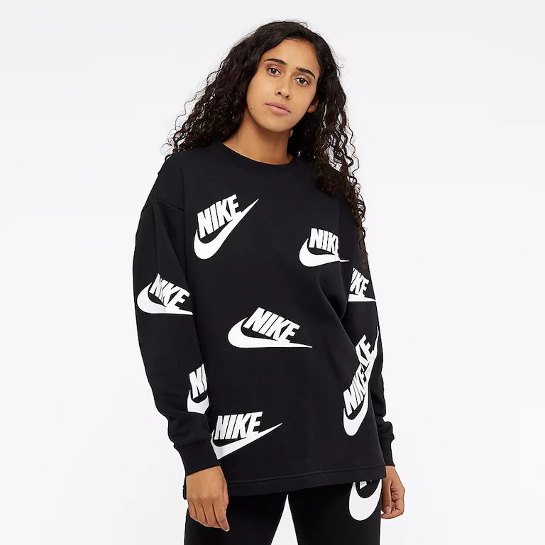 save off acf5a b4f9f Женская Толстовка Nike Sportswear Futura Crew AA3142-010 (Оригинал) -  Football Mall -