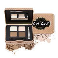 Набор теней для бровей la girl - inspiring eyebrow palette (ges)