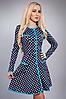 Платье женское модель №354-1,р.40 бирюза