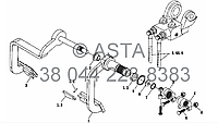 Стояночный тормоз - механизм контроля на YTO X704