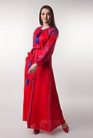 """Вышитое платье """"Цвет папороти"""", фото 1"""