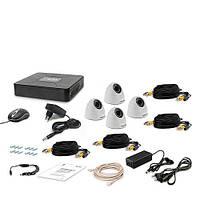 Комплект видеонаблюдения Tecsar 4IN DOME LUX
