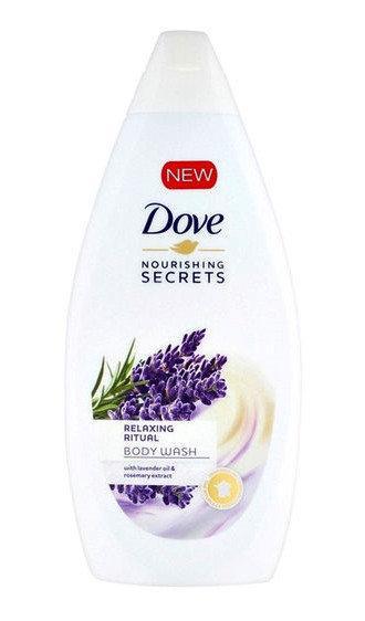 Зволожуючий крем-гель для душу Dove with lavender oil & rosemary extract 500 мл
