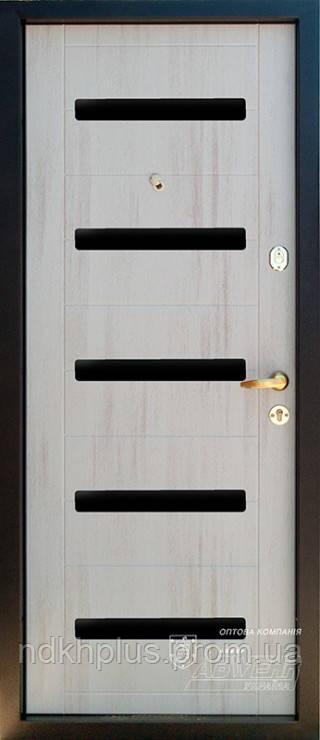 Входная дверь Престиж-2 белиссима 112 тик/ секвойя стекло лакобель