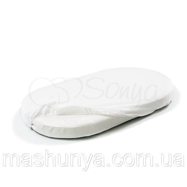 Наматрасник в овальную кроватку 60/70*120 см Маленькая Соня