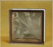 Стеклоблок матовый с 1 стороны 1908\W Brown цветной в массе - Чехия