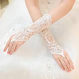 Перчатки для невесты свадебные , фото 3
