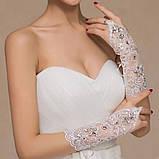 Перчатки для невесты свадебные , фото 5
