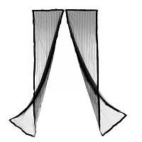 Антимоскитная дверная штора на магнитах Magic Mesh, 100х210 см, черная
