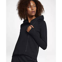 0120e186 Женская Толстовка Nike Sportswear Tech Fleece Full-Zip Cape 908822-010  (Оригинал)