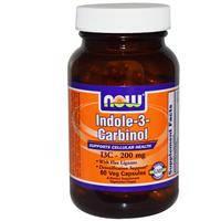 Индол-3-карбинол 200 мг 60 капс онкопротектор, лечение фибромиомы эндометриоза мастопатии NOW Foods