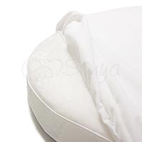 Наматрасник на люльку овальной кроватки 60/71*70 см Маленькая Соня