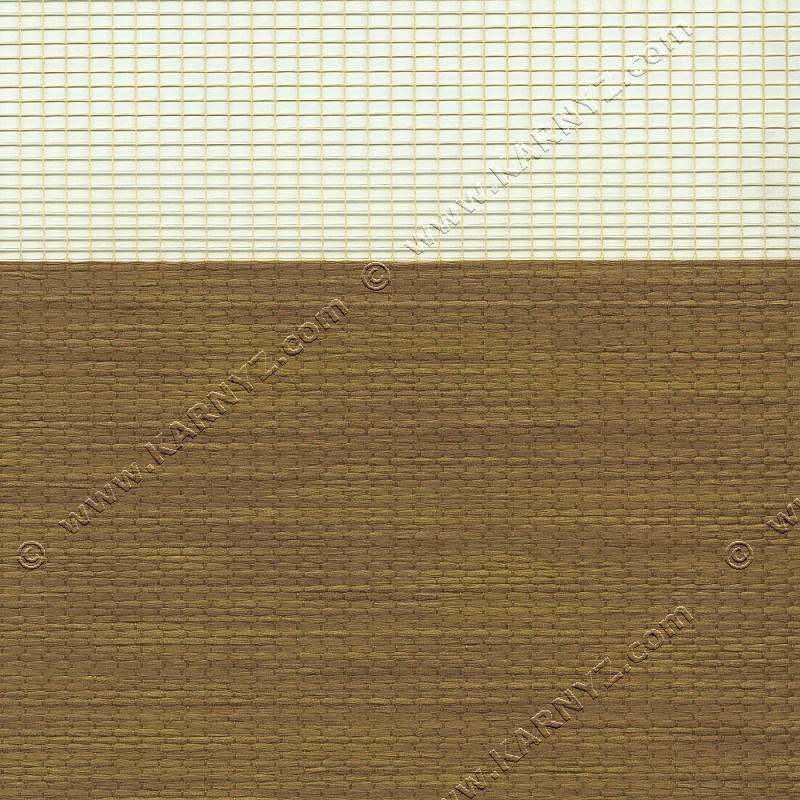 Рулонні штори День-Ніч Розкіш B-103 кедр
