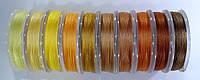 Нить для бисера TYTAN 100. Микс желто-оранжевый  (10 цветов)