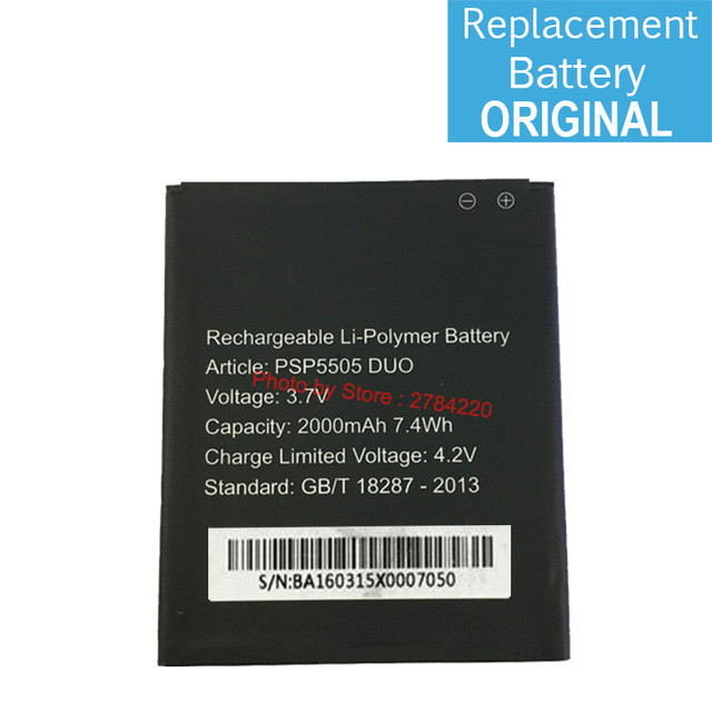 Аккумулятор 3.7V 2000mAh PSP5505DUO Prestigio MultiPhone PSP5505 PSP 5