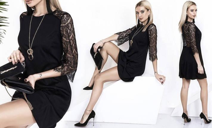 Платье с гипюровыми рукавами и спиной, фото 2