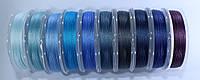 Нить для бисера TYTAN 100. Микс сине-голубой  (10 цветов)