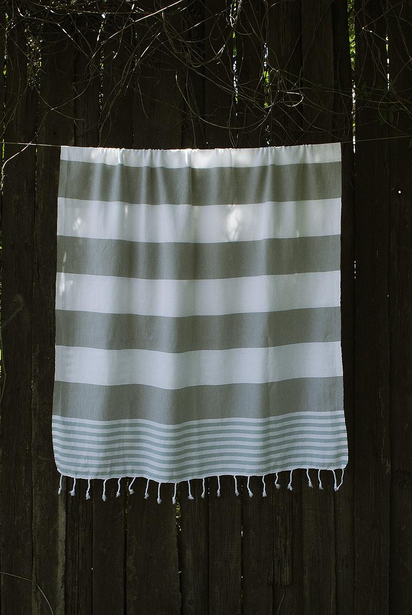 Полотенце-пештемаль пляжное Journey 90х165 серый Barine