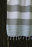 Полотенце-пештемаль пляжное Journey 90х165 серый Barine, фото 2
