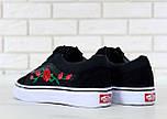 Кеды Vans Old Skool black/white Roses. Живое фото! (Реплика ААА+), фото 6