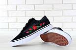 Кеды Vans Old Skool black/white Roses. Живое фото! (Реплика ААА+), фото 8