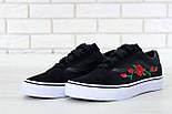 Кеды Vans Old Skool black/white Roses. Живое фото! (Реплика ААА+), фото 9