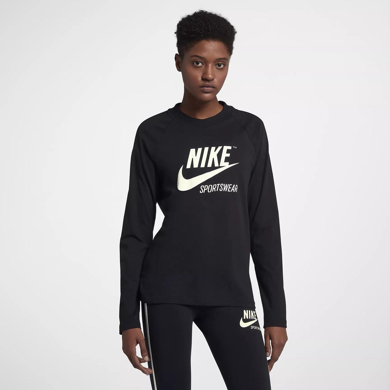 08c85c5a Женская Толстовка Nike Sportswear Long Sleeve Tee 883521-010 (Оригинал)