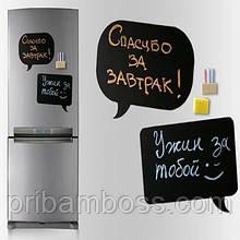"""Магнітна дошка на холодильник """"Чат"""" крейда 2 шт."""