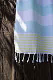 Полотенце-пештемаль пляжное Journey 90х165 голубой Barine, фото 2