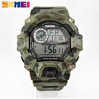 Часы военные водонепроницаемые 5 АТМ Skmei Camouflage 1019 (Original 100%)., фото 1